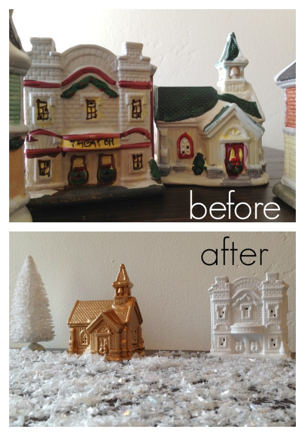 Best ideas about DIY Christmas Village . Save or Pin Christmas Village Makeover Inexpensive DIY Now.