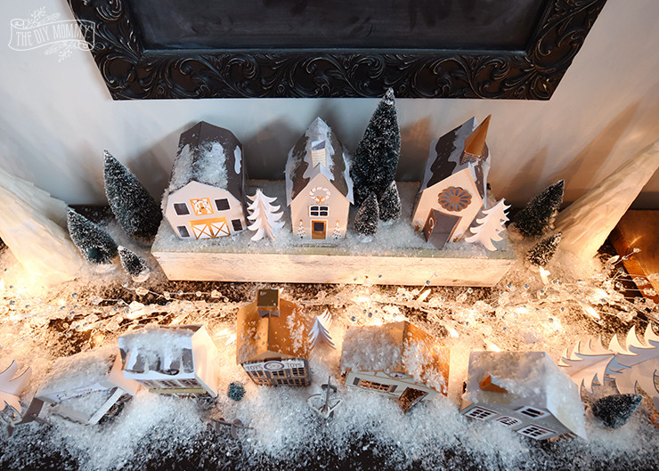 Best ideas about DIY Christmas Village . Save or Pin Our DIY $15 Paper Christmas Village Now.