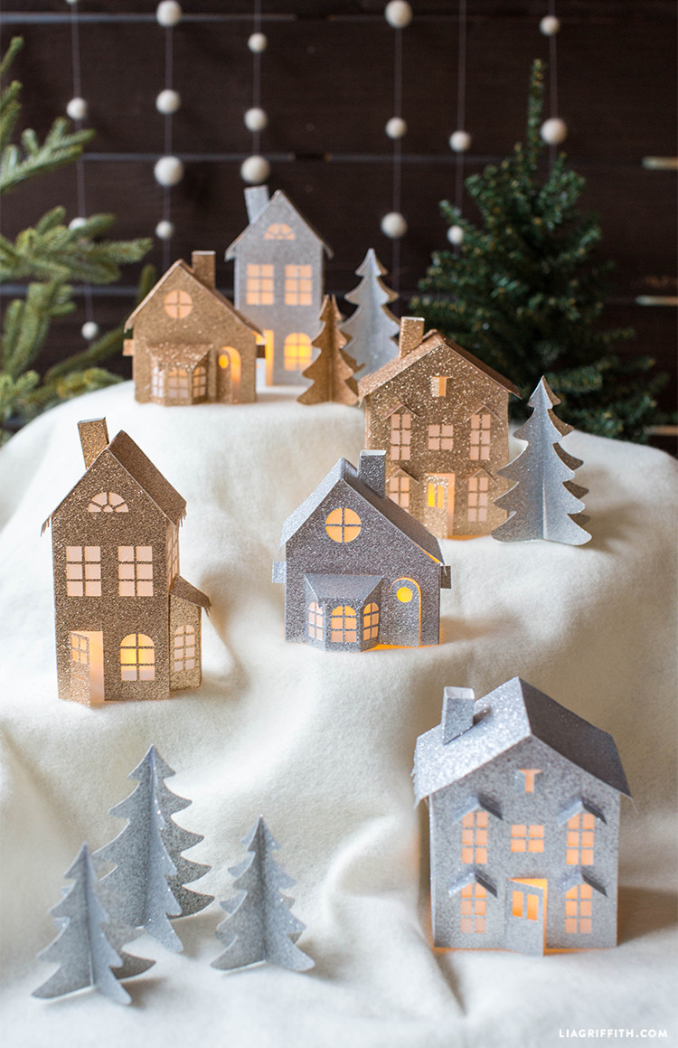 Best ideas about DIY Christmas Villages . Save or Pin 3D Paper Christmas Village Lia Griffith Now.