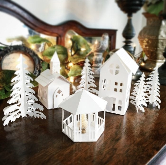 Best ideas about DIY Christmas Villages . Save or Pin DIY Christmas Village Using a Silhouette Cameo Now.