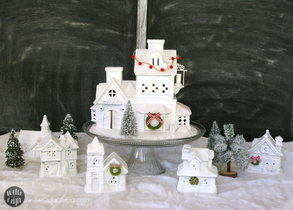 Best ideas about DIY Christmas Villages . Save or Pin How to Make a Glitter House Village the easy way Now.