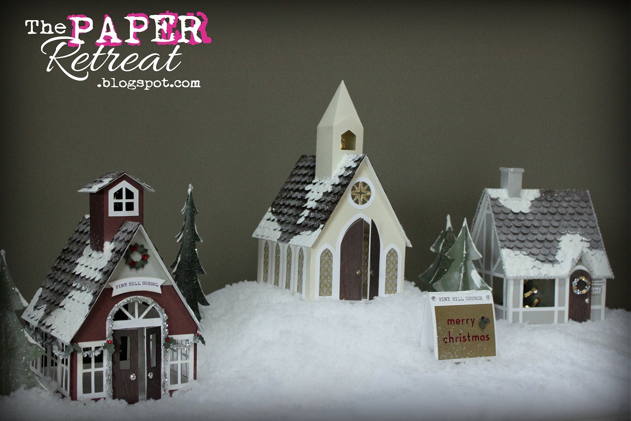 Best ideas about DIY Christmas Villages . Save or Pin The Paper Retreat A Country Christmas Village & Tutorial Now.