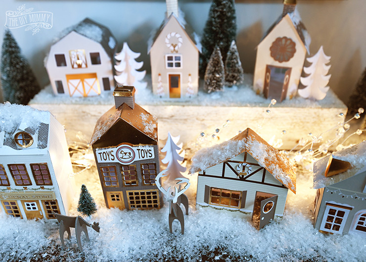 Best ideas about DIY Christmas Villages . Save or Pin Our DIY $15 Paper Christmas Village Now.