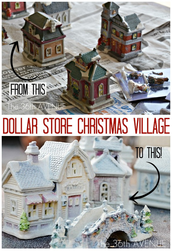 Best ideas about DIY Christmas Villages . Save or Pin The 36th AVENUE DIY Dollar Store Christmas Village Now.