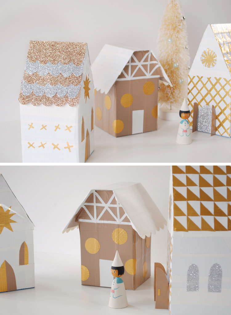 Best ideas about DIY Christmas Villages . Save or Pin mer mag Christmas Village with Duct Tape and Tissue Boxes Now.