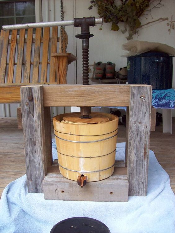 Best ideas about DIY Cider Press . Save or Pin Small Homebuilt Cider Press Now.