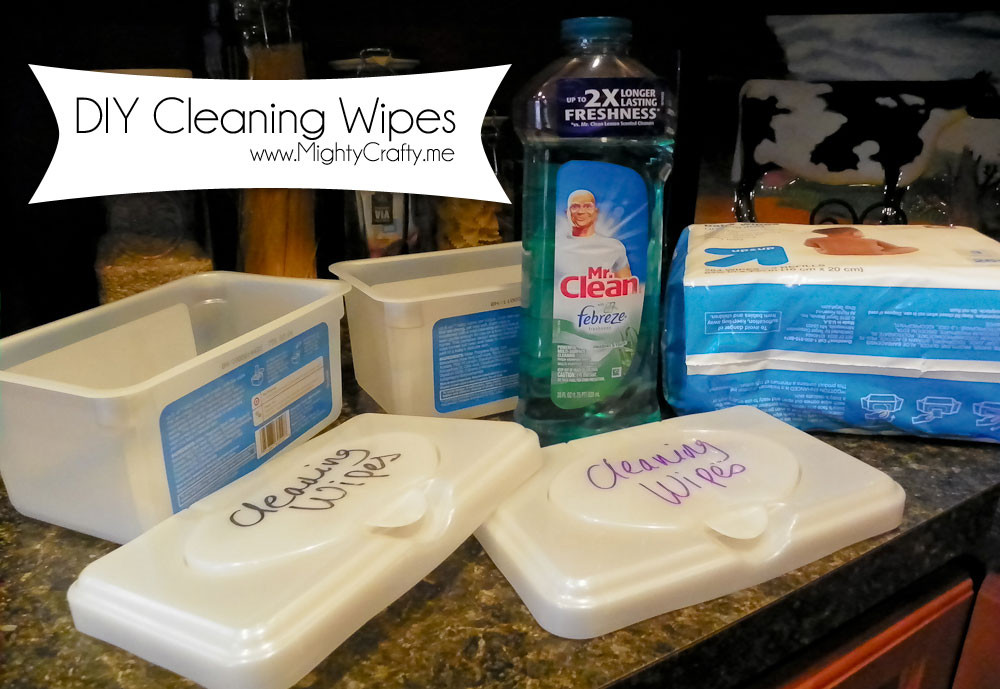 Best ideas about DIY Cleaning Wipes . Save or Pin MightyCrafty DIY Cleaning Wipes Now.