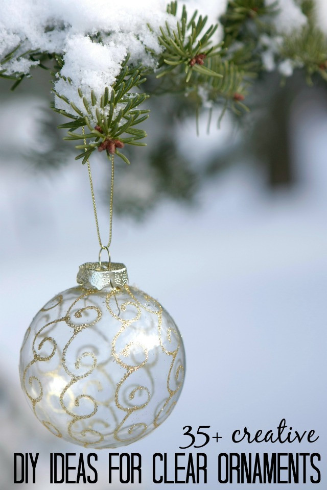 Best ideas about DIY Clear Christmas Ornaments . Save or Pin Remodelaholic Now.
