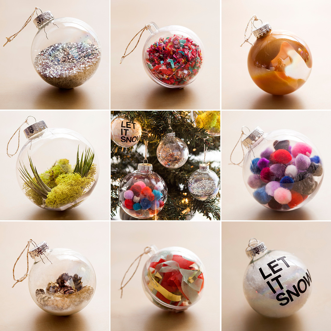 Best ideas about DIY Clear Christmas Ornaments . Save or Pin The Ultimate Holiday Hack 8 Ornaments in 8 Minutes Now.
