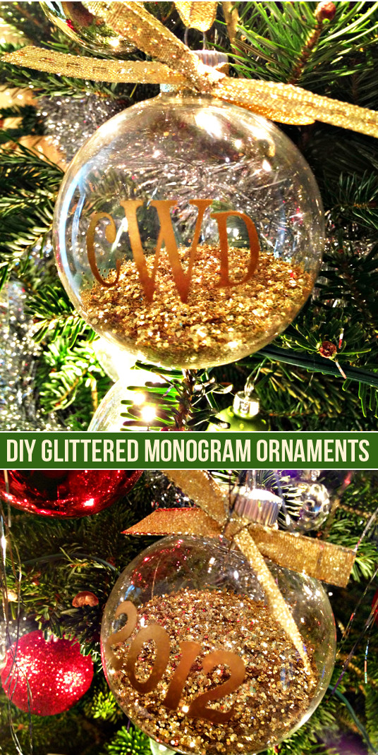 Best ideas about DIY Clear Christmas Ornaments . Save or Pin DIY Monogram Ornaments & Silhouette Black Friday Deals Now.