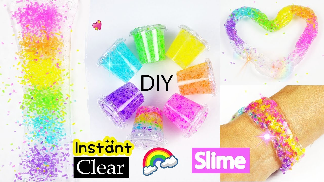 Best ideas about DIY Clear Slime . Save or Pin Best DIY Rainbow Slime recipe without Coloring How to Make Now.