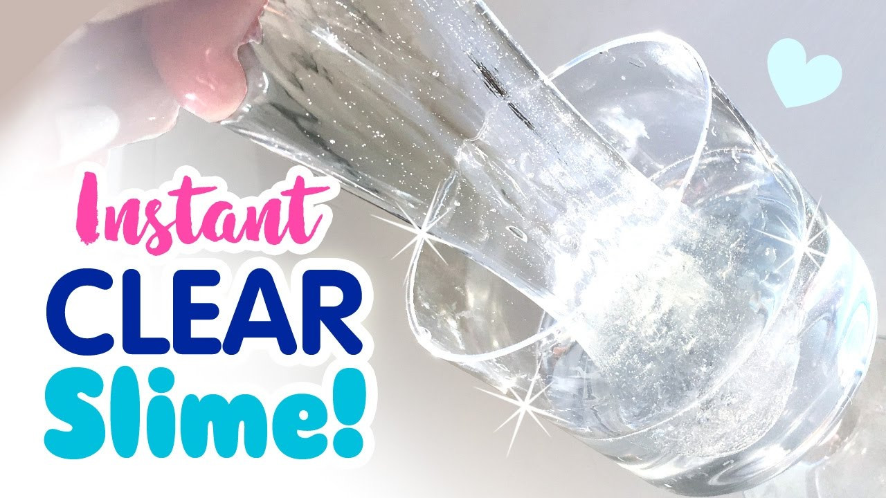 Best ideas about DIY Clear Slime . Save or Pin DIY INSTANT CLEAR SLIME No Waiting For Bubbles No Now.