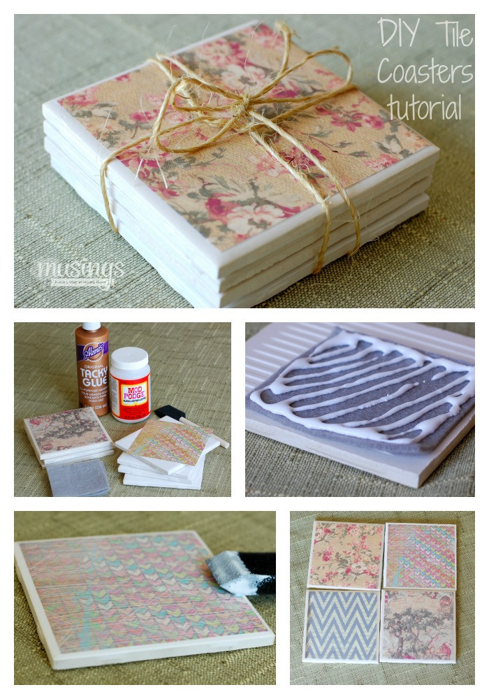 Best ideas about DIY Coaster Tiles . Save or Pin DIY Tile Coasters Tutorial Musings From a Stay At Home Mom Now.