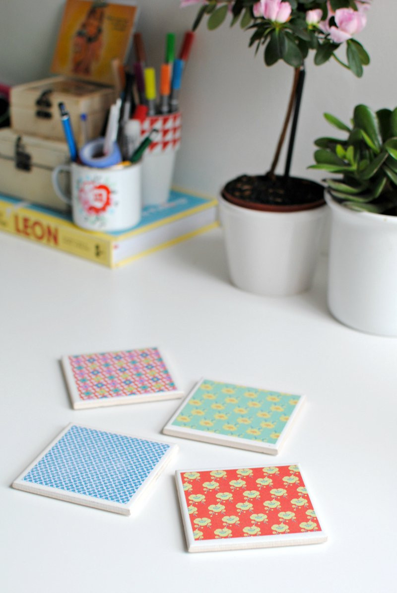 Best ideas about DIY Coaster Tiles . Save or Pin DIY make your own tile coasters Now.