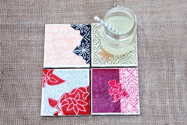 Best ideas about DIY Coaster Tiles . Save or Pin DIY Drink Coasters from Tiles Paper Now.