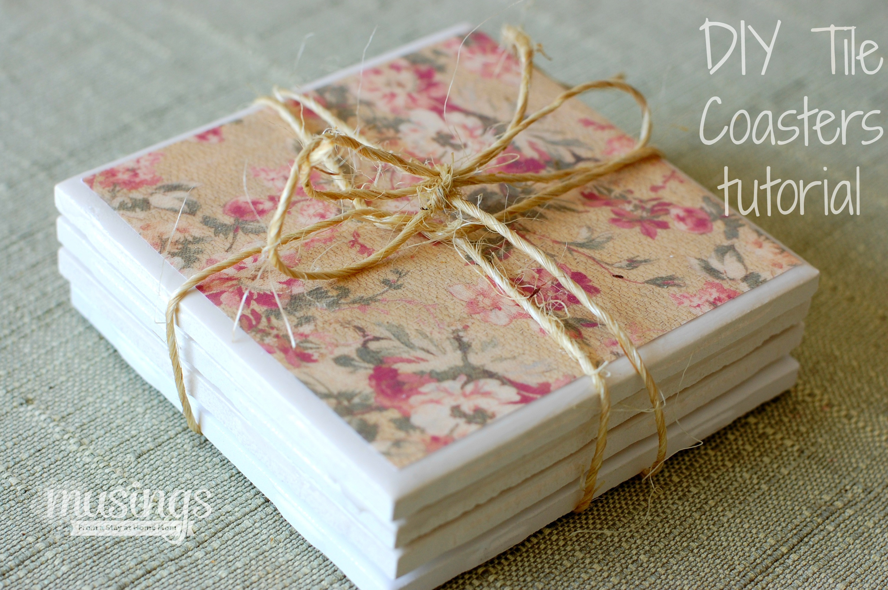 Best ideas about DIY Coaster Tiles . Save or Pin DIY Tile Coasters Tutorial Living Well Mom Now.