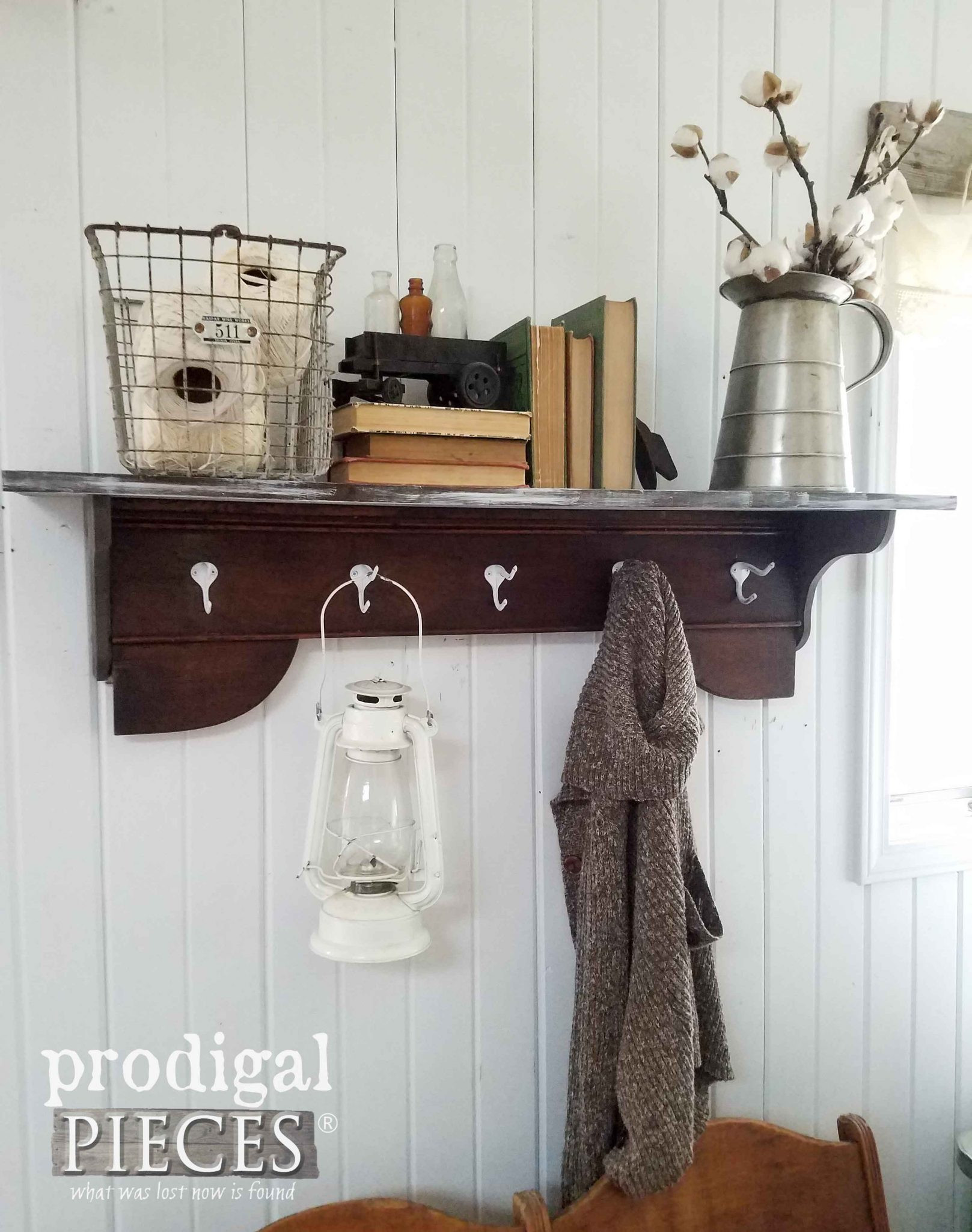 Best ideas about DIY Coat Racks . Save or Pin Repurposed Coat Rack DIY by a PreTeen Prodigal Pieces Now.