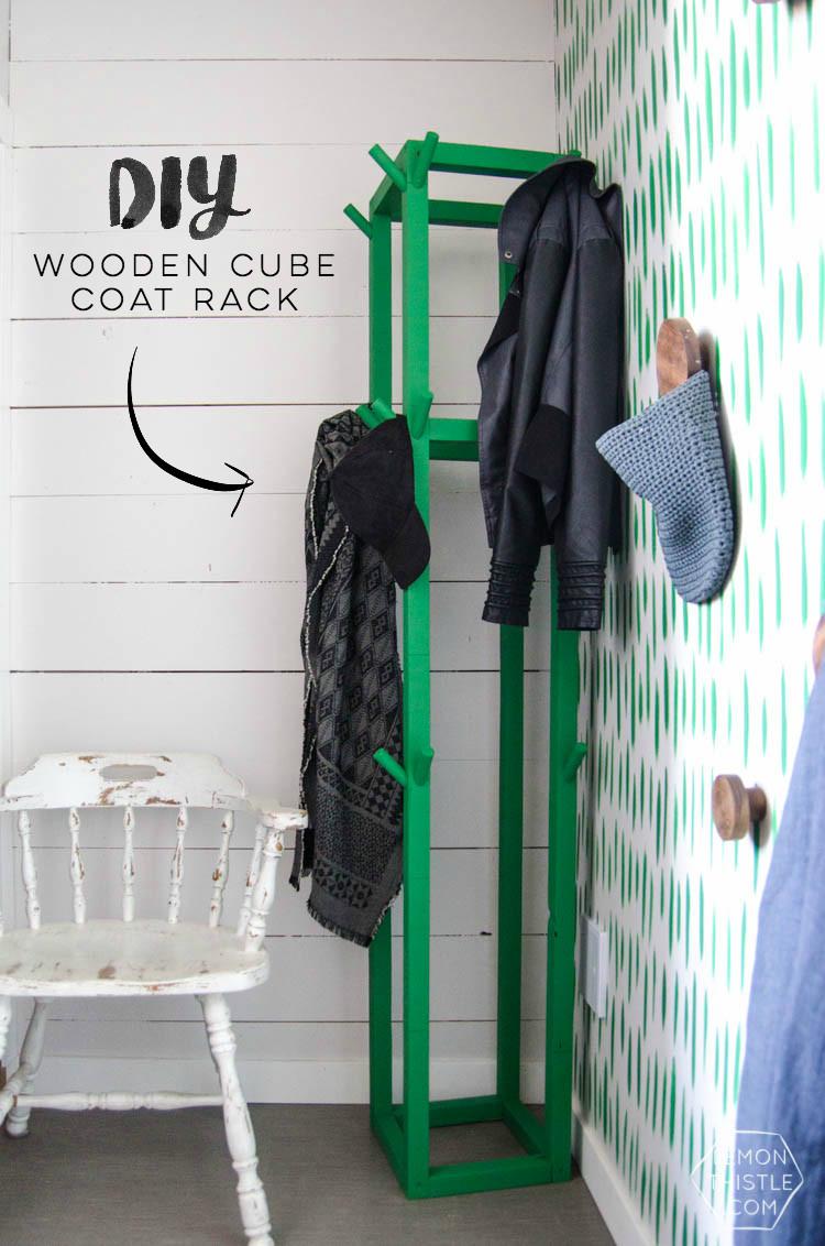 Best ideas about DIY Coat Racks . Save or Pin Simple DIY Coat Rack Lemon Thistle Now.