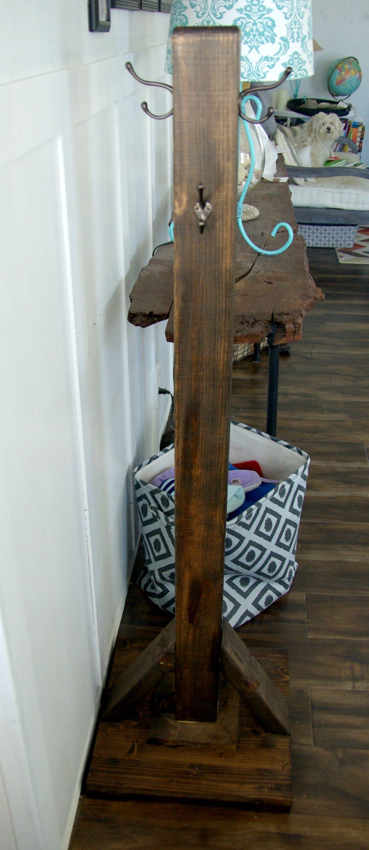 Best ideas about DIY Coat Racks . Save or Pin DIY Wood Coat Rack Now.