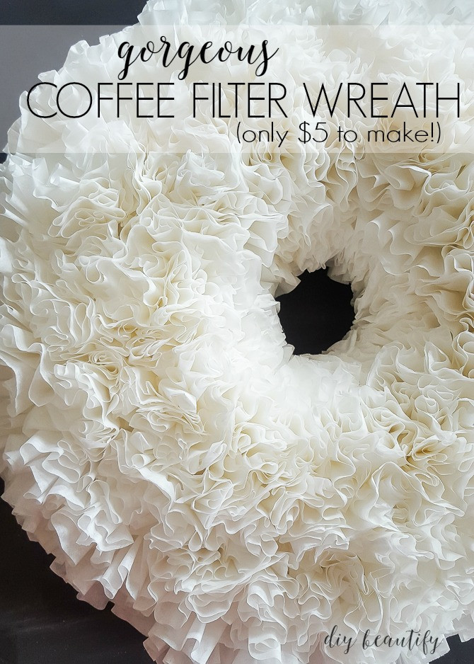 Best ideas about DIY Coffee Filter . Save or Pin Make a Coffee Filter Wreath for $5 Now.