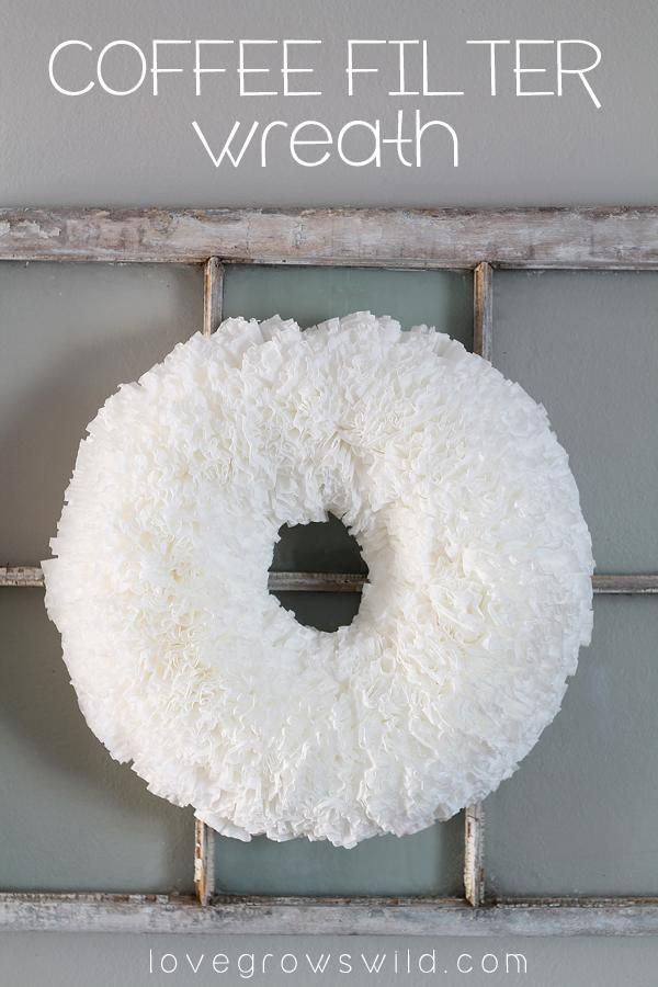 Best ideas about DIY Coffee Filter . Save or Pin Coffee filter wreath Coffee filters and Diy wreath on Now.