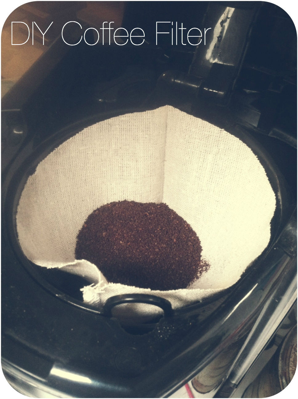 Best ideas about DIY Coffee Filter . Save or Pin Chevron Stitches DIY Reusable Coffee Filter Now.