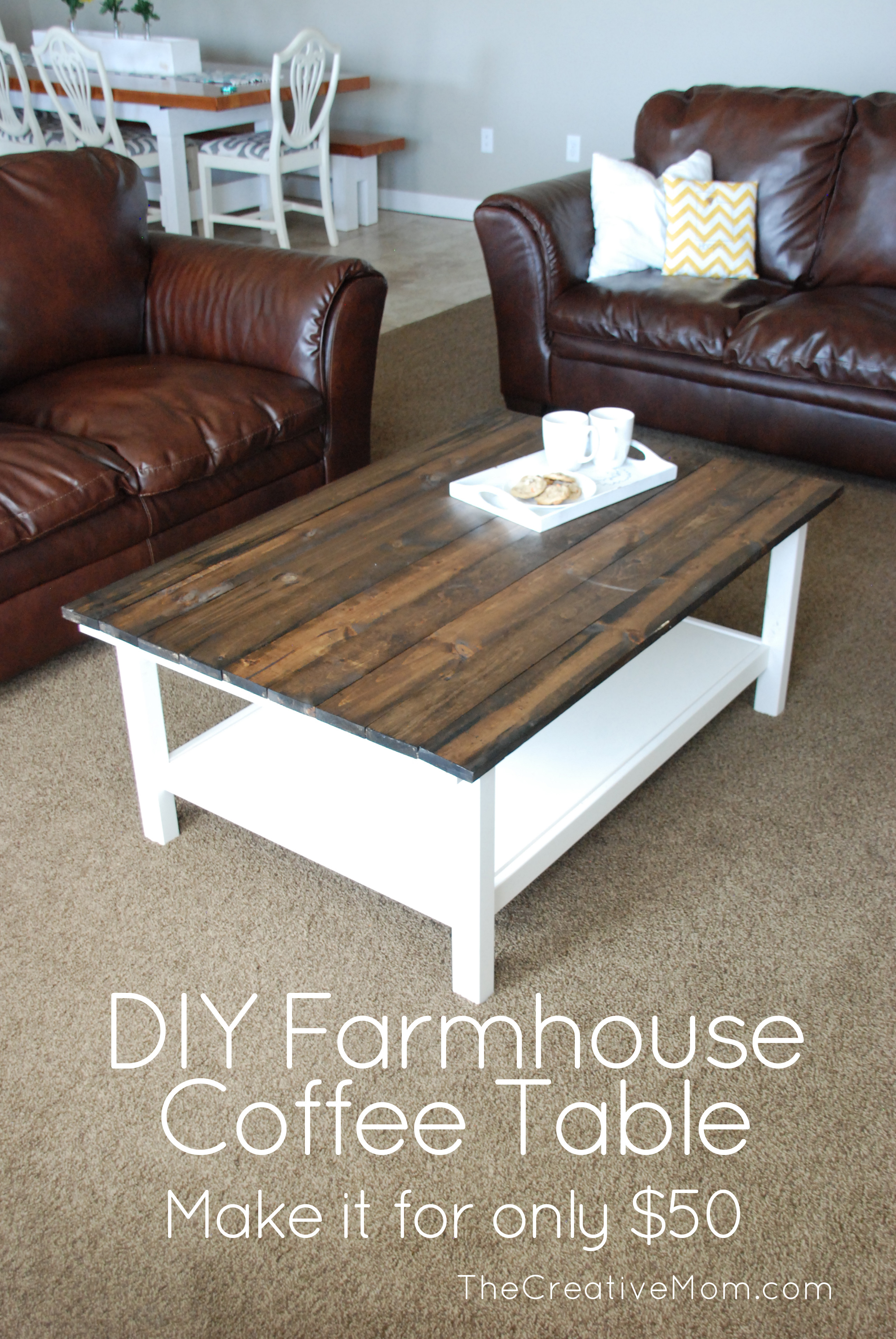 Best ideas about DIY Coffee Table Pinterest . Save or Pin DIY Farmhouse Coffee Table Now.