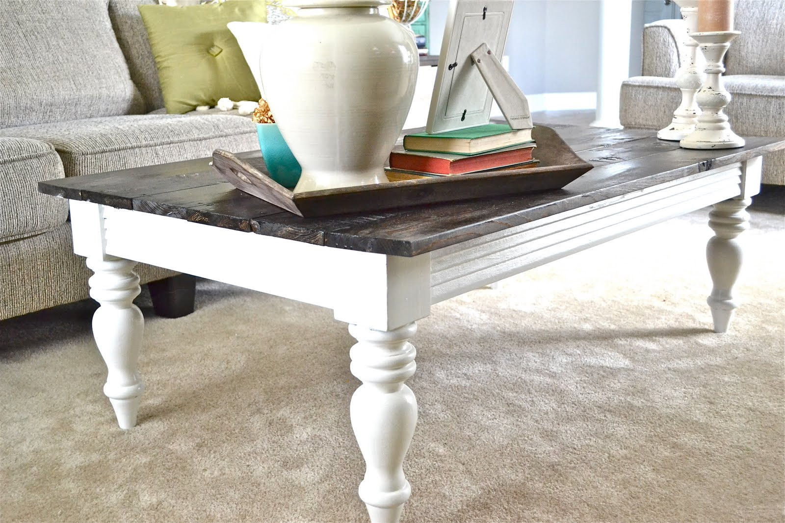 Best ideas about DIY Coffee Table Pinterest . Save or Pin Liz Marie Warm Wood & White Now.