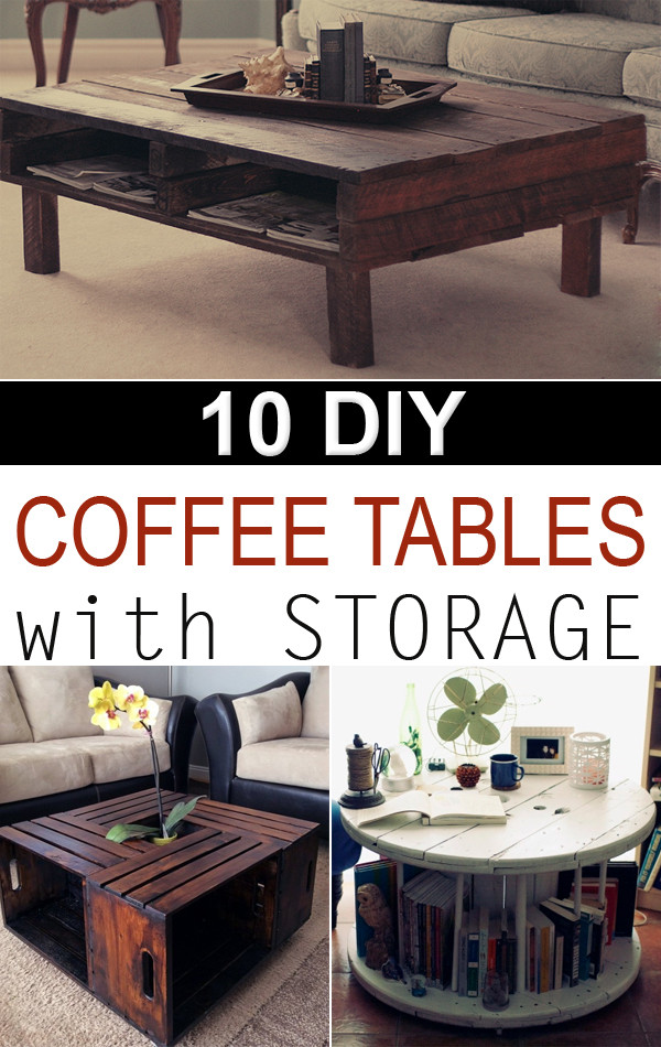 Best ideas about DIY Coffee Tables With Storage . Save or Pin 10 Creative DIY Coffee Tables with Storage Now.