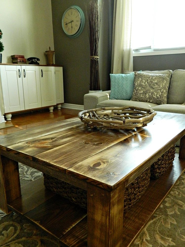 Best ideas about DIY Coffee Tables With Storage . Save or Pin DIY Rustic Coffee Table with Storage in About 3 or 4 Days Now.