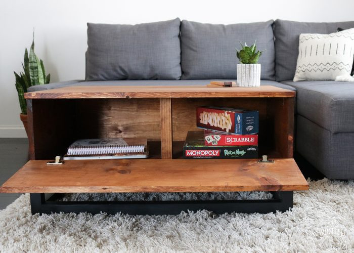 Best ideas about DIY Coffee Tables With Storage . Save or Pin DIY Coffee Table With Hidden Storage DIY Huntress Now.