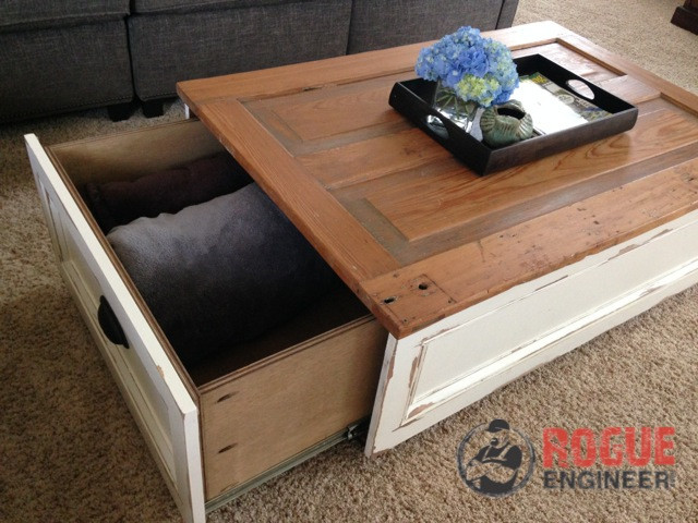 Best ideas about DIY Coffee Tables With Storage . Save or Pin DIY Coffee Table with Storage Free Plans Now.
