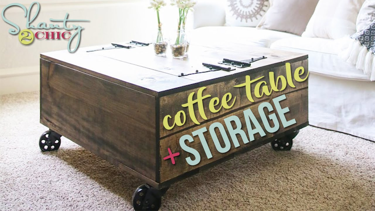 Best ideas about DIY Coffee Tables With Storage . Save or Pin DIY Coffee Table with Storage Now.