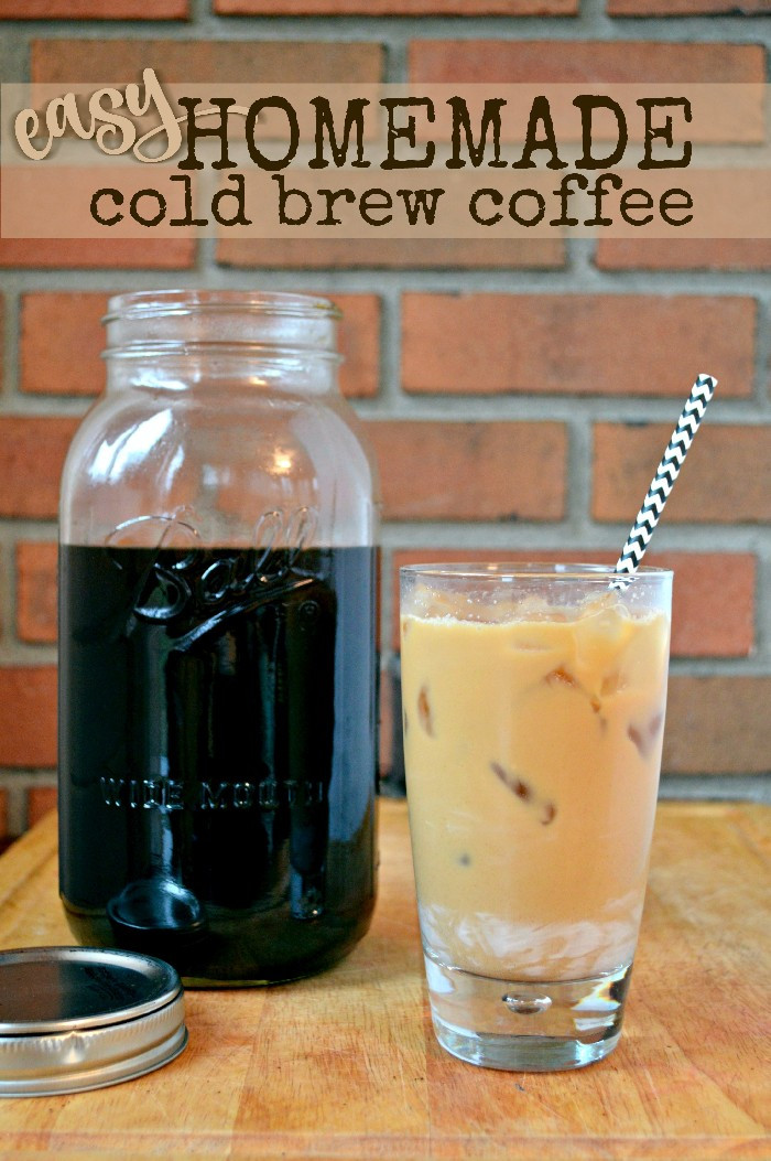Best ideas about DIY Cold Brew Coffee . Save or Pin EASY HOMEMADE COLD BREW COFFEE Mad in Crafts Now.