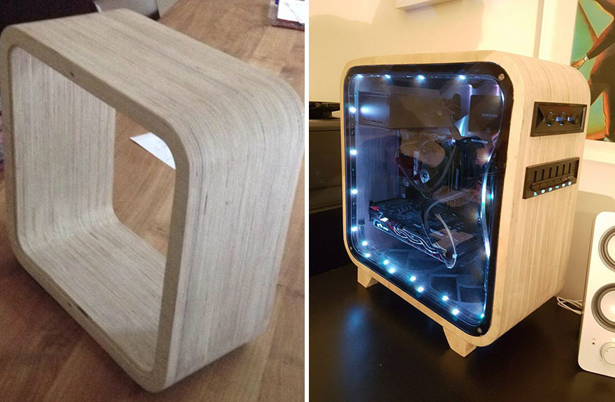 Best ideas about DIY Computer Case . Save or Pin I Made A puter Out Wood Now.