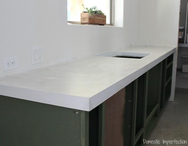 Best ideas about DIY Concrete Countertops Cost . Save or Pin DIY Concrete Countertops Part II The Pour Domestic Now.