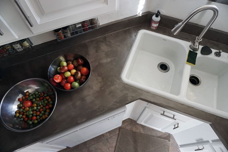 Best ideas about DIY Concrete Countertops Over Laminate . Save or Pin Lovely Imperfection DIY Concrete Countertops Over Now.