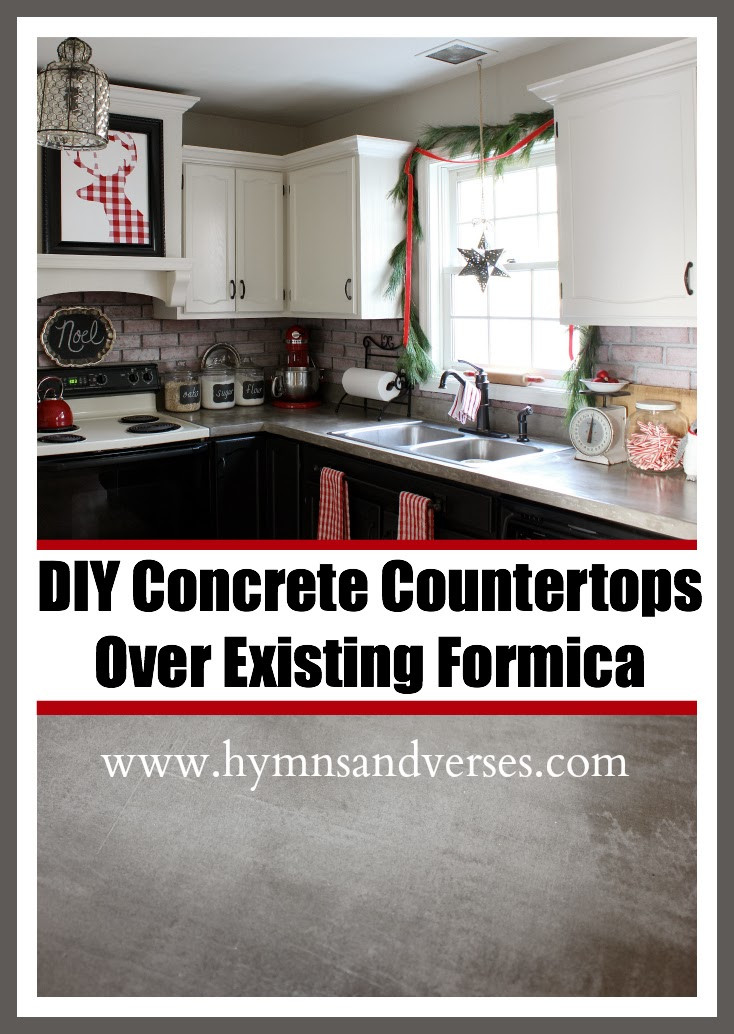Best ideas about DIY Concrete Countertops Over Laminate . Save or Pin Hymns and Verses DIY Concrete Countertops Over Existing Now.