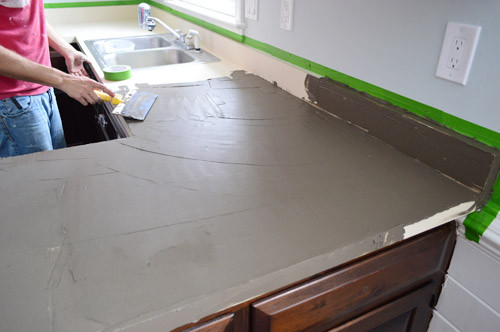 Best ideas about DIY Concrete Countertops Over Laminate . Save or Pin Trying Our Hand At DIY Ardex Concrete Counters Now.