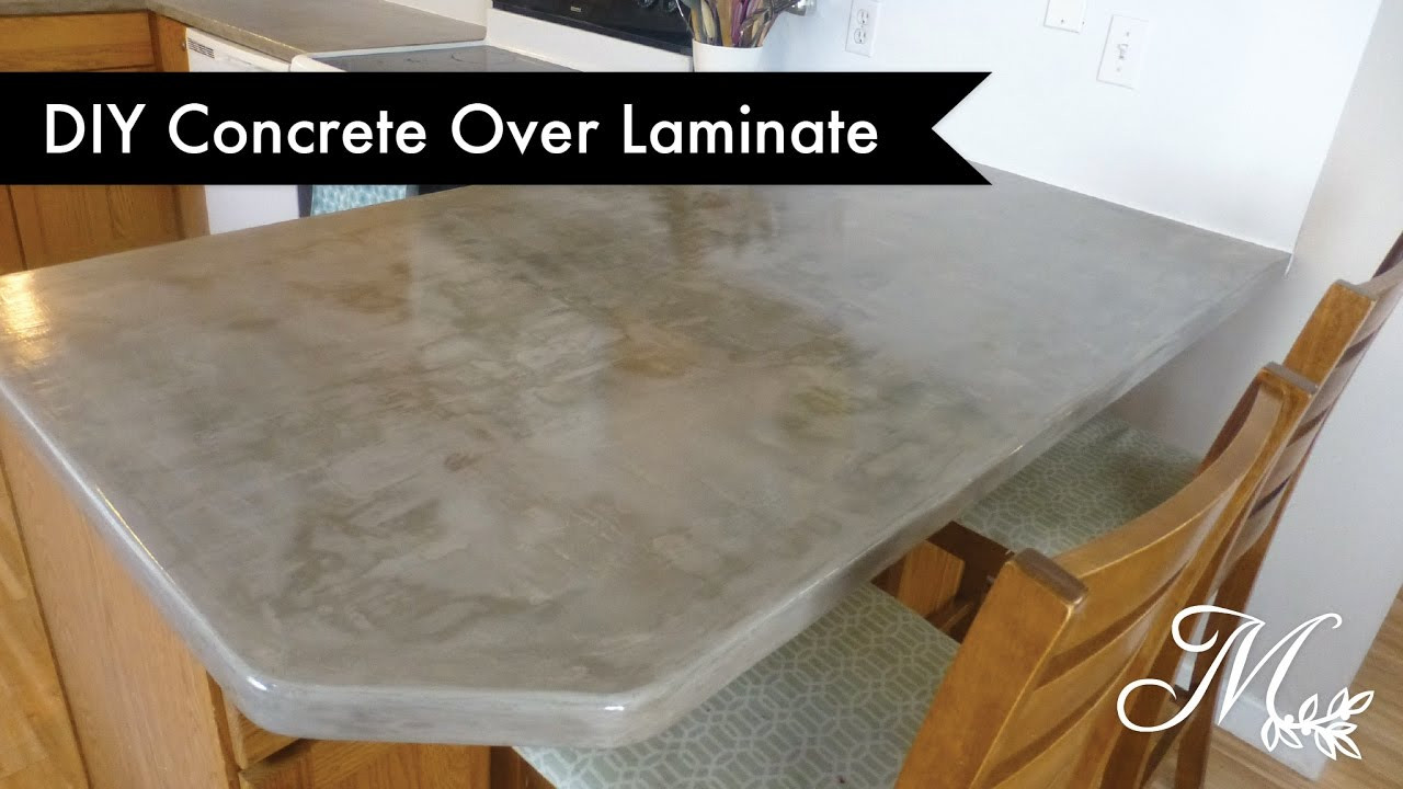 Best ideas about DIY Concrete Countertops Over Laminate . Save or Pin DIY Concrete Over Laminate Countertops Using Feather Now.