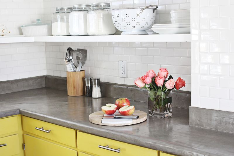Best ideas about DIY Concrete Countertops Over Laminate . Save or Pin Concrete Countertop DIY – A Beautiful Mess Now.
