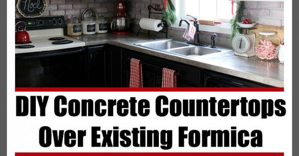 Best ideas about DIY Concrete Countertops Over Laminate . Save or Pin DIY Concrete Countertops Over Existing Formica Now.