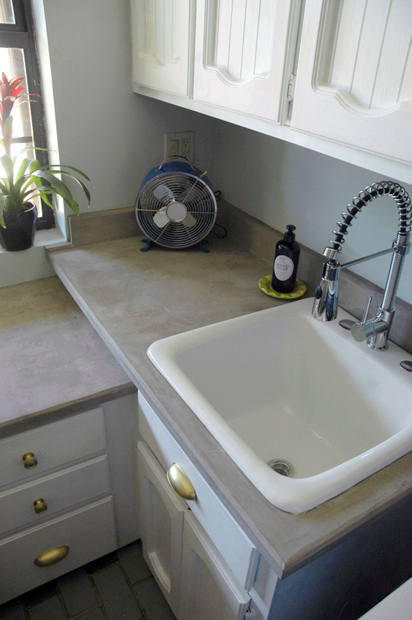 Best ideas about DIY Concrete Countertops Over Laminate . Save or Pin DIY concrete countertops over laminate or anything Nice Now.
