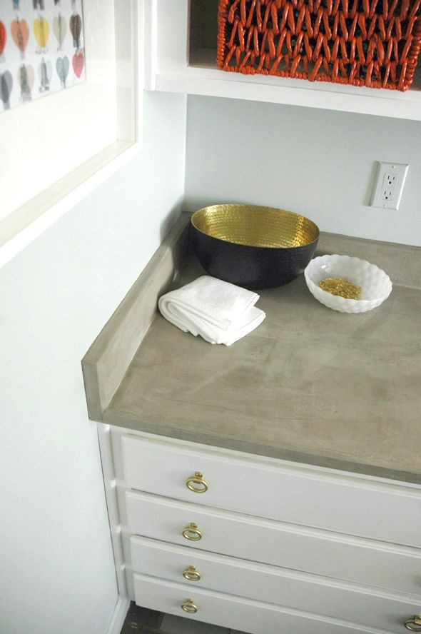 Best ideas about DIY Concrete Countertops Over Laminate . Save or Pin Little Green Notebook DIY Concrete Countertops Now.