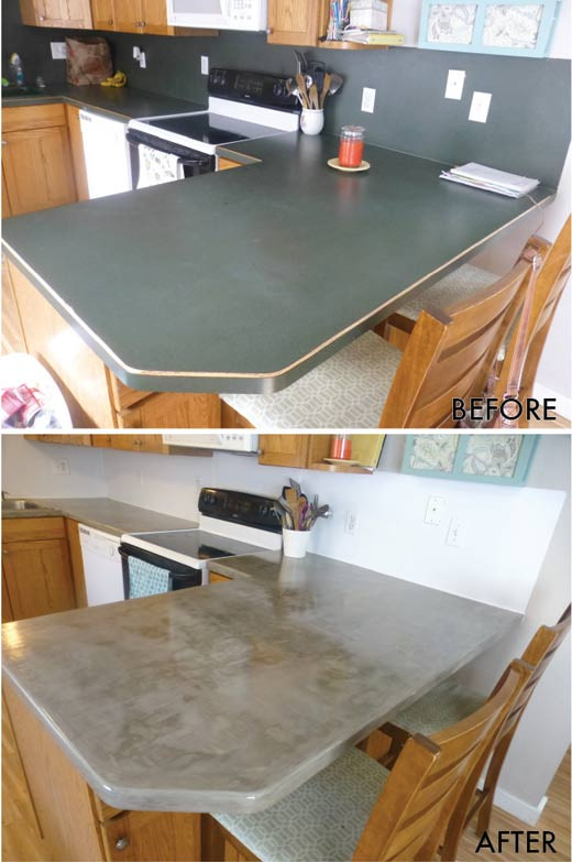 Best ideas about DIY Concrete Countertops Over Laminate . Save or Pin Yay I Made It DIY Concrete Over Laminate Countertops Now.
