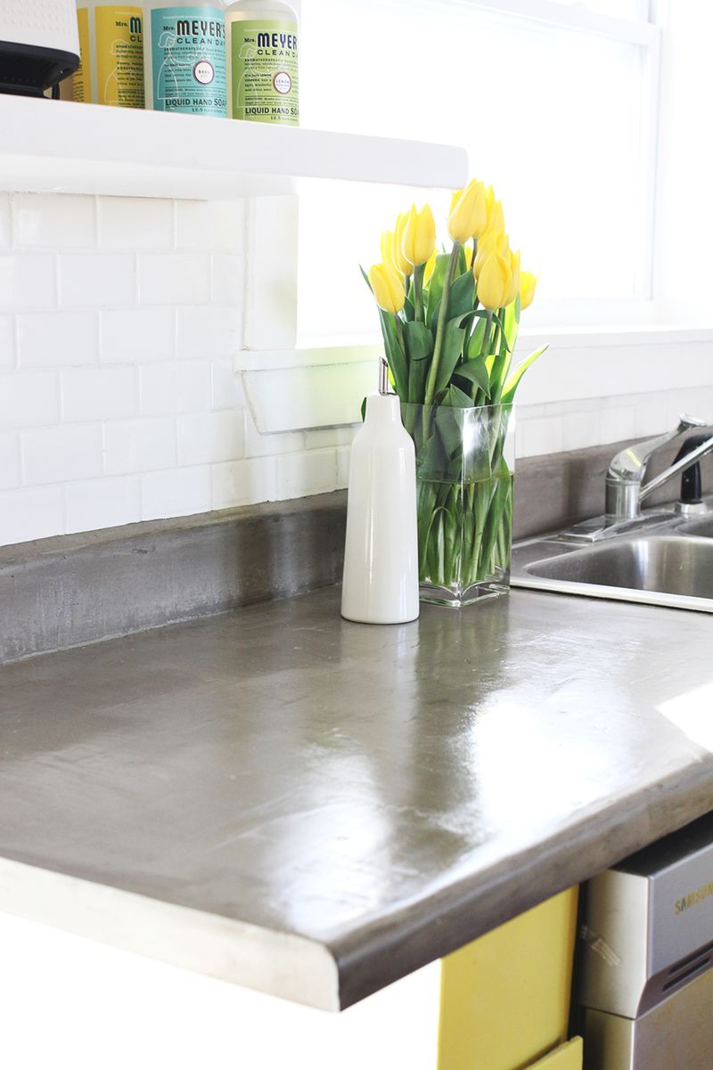 Best ideas about DIY Concrete Kitchen Countertop . Save or Pin Concrete Countertop DIY – A Beautiful Mess Now.