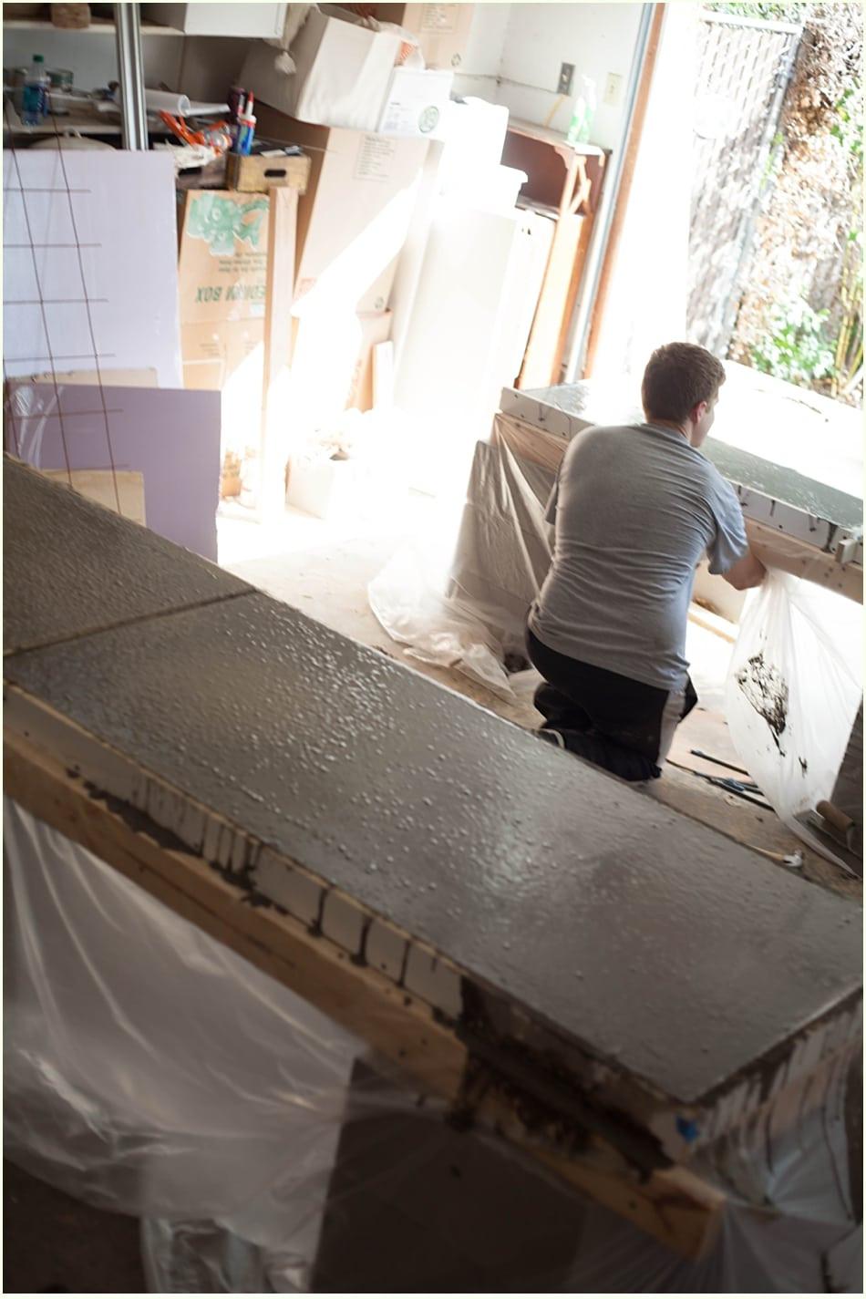 Best ideas about DIY Concrete Kitchen Countertop . Save or Pin DIY Concrete Countertops & a kitchen update Run To Radiance Now.