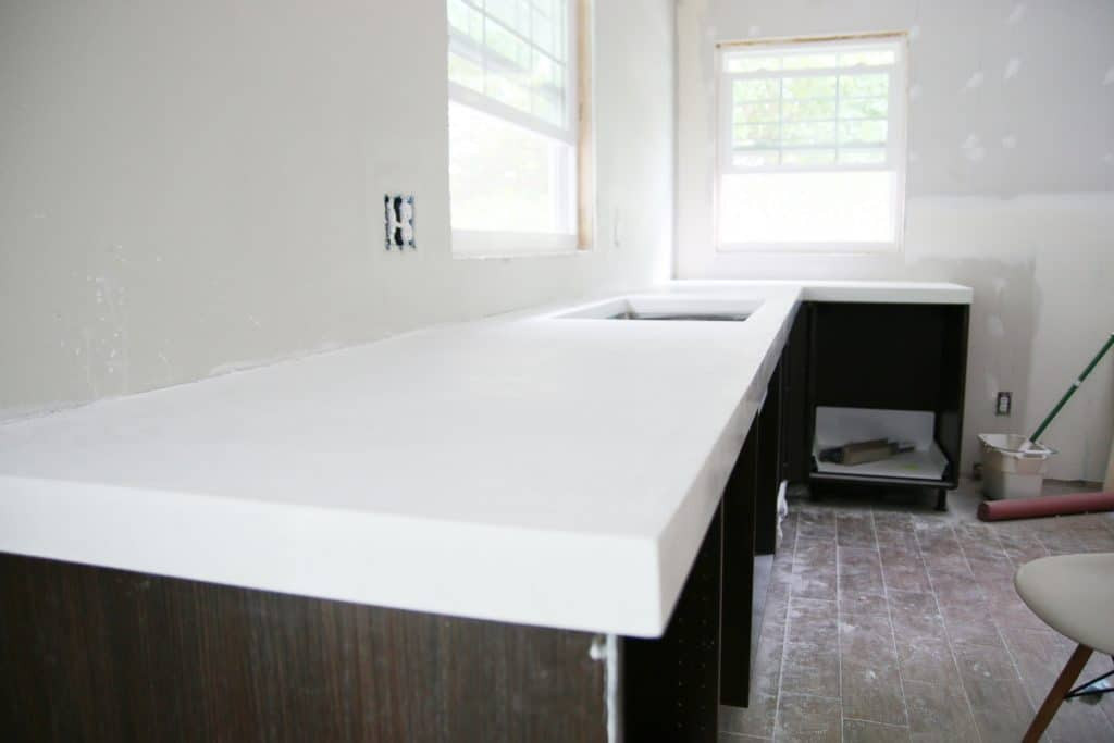 Best ideas about DIY Concrete Kitchen Countertop . Save or Pin DIY White Concrete Countertops Chris Loves Julia Now.
