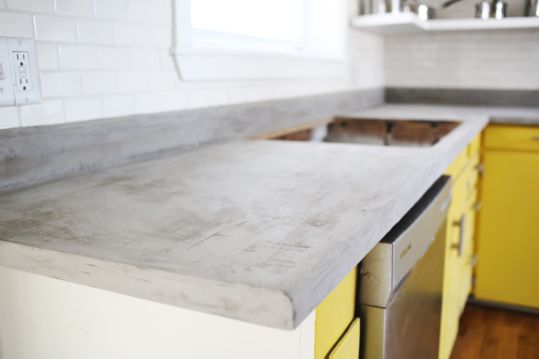 Best ideas about DIY Concrete Kitchen Countertop . Save or Pin Concrete Countertop DIY A Beautiful Mess Now.