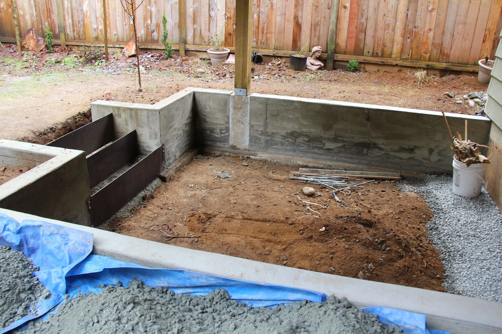Best ideas about DIY Concrete Retaining Wall . Save or Pin dirt digging sisters DIY concrete retaining wall and patio Now.